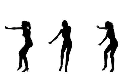 女性ダンスシルエット Stock Video Footage