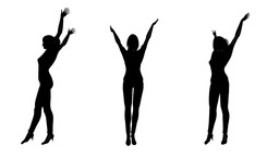女性ダンスシルエット Animation