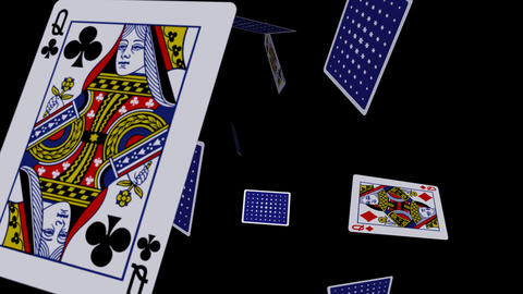 Playing Cards - Falling Loop II Stock Video Footage