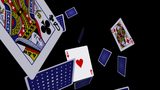 Playing Cards - Falling Loop II stock footage