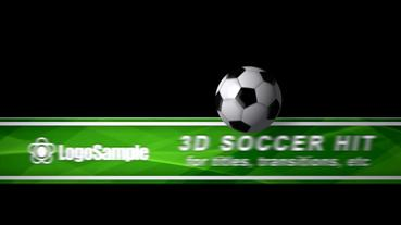 Soccer Ball Hit - CS4 stock footage