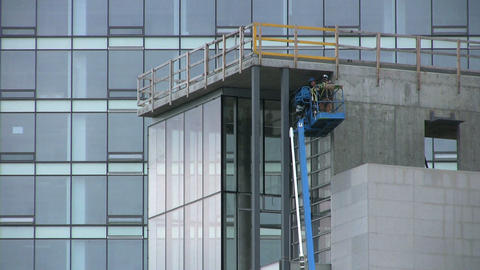 Building Inspectors Downtown Construction Site Footage