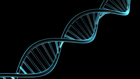 DNA with Alpha Channel Stock Video Footage