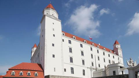 Stary Hrad - ancient castle in Bratislava, Slovakia Footage
