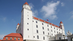 Stary Hrad - ancient castle in Bratislava, Slovakia Stock Video Footage