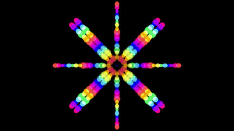 color circle shaped music rhythm... Stock Video Footage
