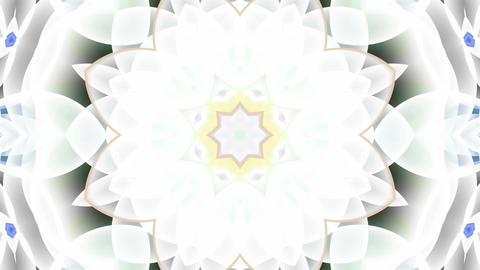 glass flower fancy pattern,Buddhism lotus... Stock Video Footage