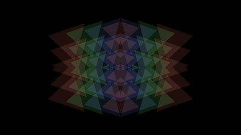 plastic triangle mosaics,toy brick,buddhism lotus pattern.particle,material,text Animation
