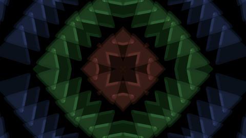 plastic triangle mosaics,buddhism flower... Stock Video Footage