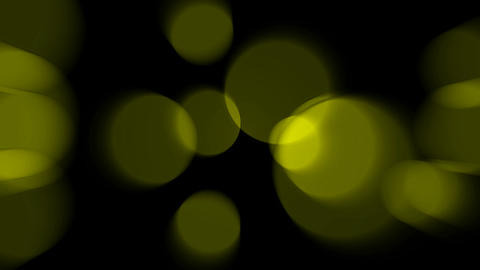 yellow circle light,defocused circle lights... Stock Video Footage