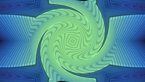 spiral turbine tunnel,swirl gear in space,Tai Chi pattern.particle,material,text Animation