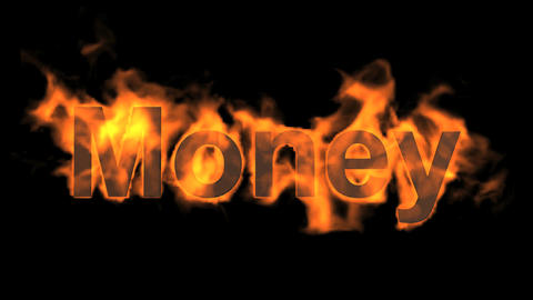 fire money word Stock Video Footage