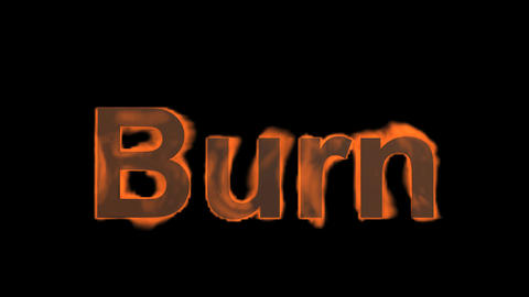 fire burn word Stock Video Footage