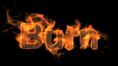 fire burn word Animation