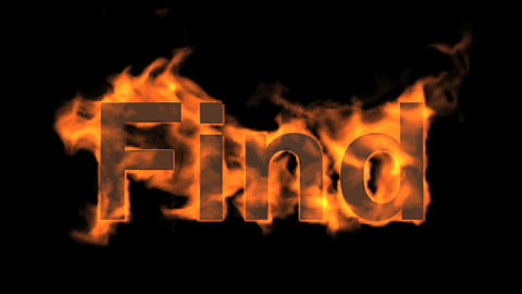 flame find word,fire text Stock Video Footage
