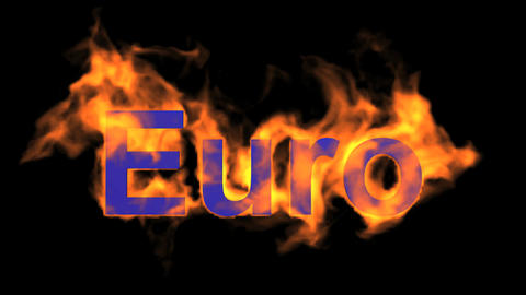 flame Euro text Animation