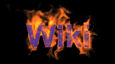 flame wiki word,fire text Stock Video Footage