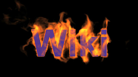 flame wiki word,fire text Animation