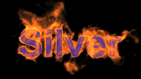 fire silver word,flame text Stock Video Footage