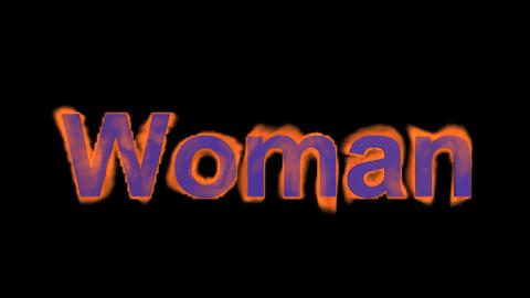 flame woman word,fire text Stock Video Footage