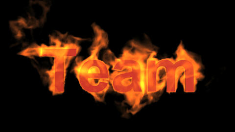 flame team text,fire business key words Animation