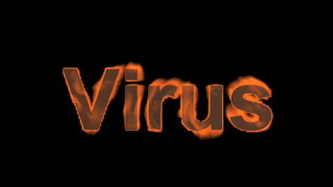 flame virus word,fire text Stock Video Footage