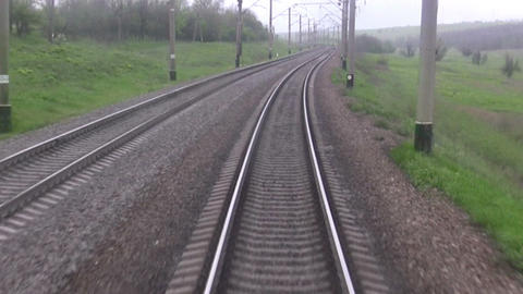 Railroad track. Forward view Stock Video Footage