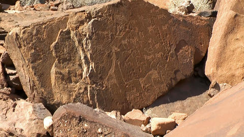 ancient rock engravings in namibia Footage