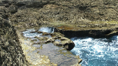 blowhole in curacao Stock Video Footage