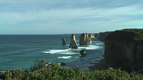 Famous rock formation twelve apostles at the great ocean... Stock Video Footage