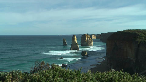 Famous rock formation twelve apostles at the great ocean road,australia Footage