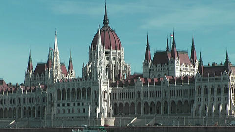 Hungarian parliament in budapest Stock Video Footage