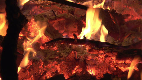 burning wood Stock Video Footage
