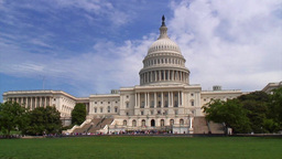 Capital Building Washington DC stock footage