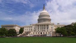 Capital Building Washington DC Stock Video Footage