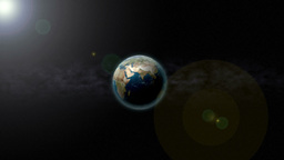 Zoom Past Earth Stock Video Footage