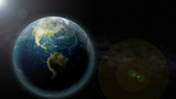 Zoom Past Earth stock footage