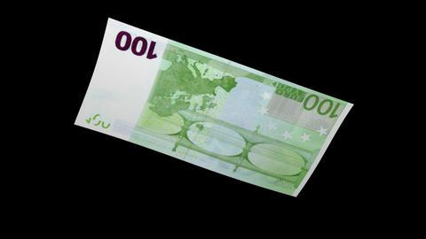 100 EUR Bill - 3D Diagonal Spinning Loop Stock Video Footage