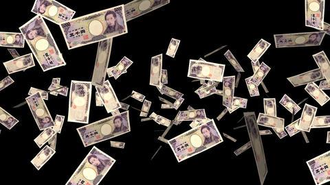 Money Explosion - 5000 JPY Bills - I Stock Video Footage