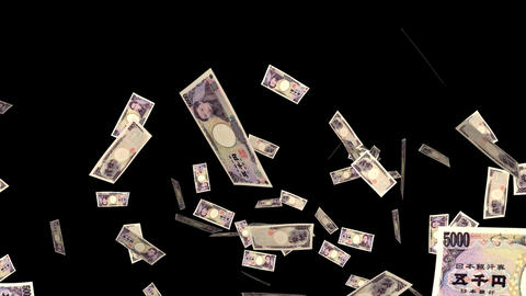 Money Explosion - 5000 JPY Bills - I Stock Video Footage