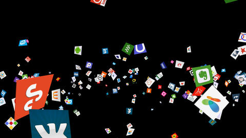 Social Media Confetti Explosion - 04 stock footage