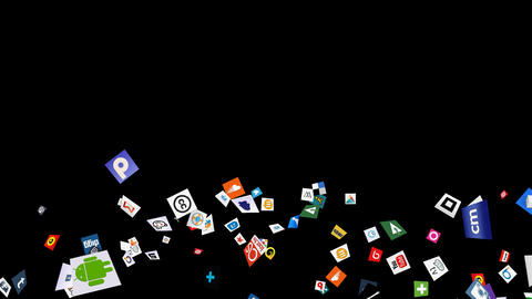 Social Media Confetti Explosion - 04 Stock Video Footage