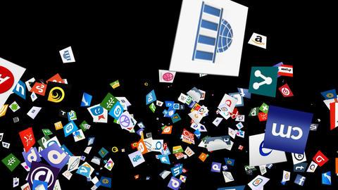 Social Media Confetti Explosion - 06 Stock Video Footage