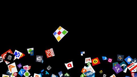 Social Media Confetti Explosion - 08 Stock Video Footage