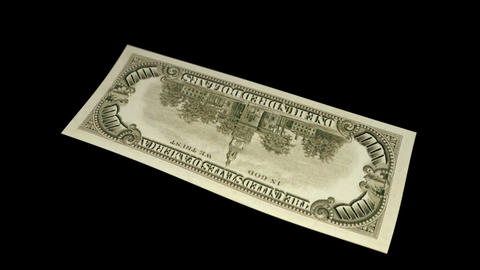 100 USD Bill - 1966 - 3D Diagonal Spinning Loop Stock Video Footage