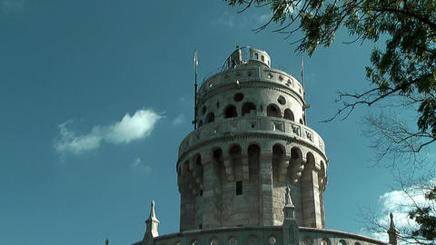 Belvedere Tower or Elisabeth Tower in the Buda Hills Footage
