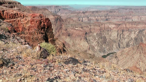 Fish River Canyon In Namibia Africa, Tilt Shot stock footage
