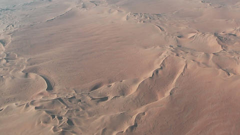 Flight over desert dunes in namibia Stock Video Footage