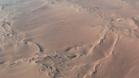 Flight over desert dunes in namibia Stock Video Footage