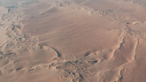 Flight over desert dunes in namibia Footage